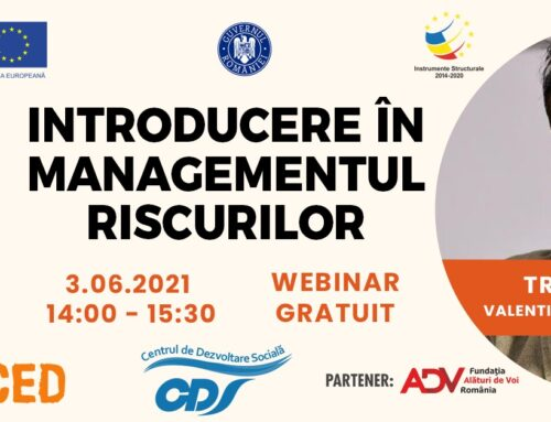 WEBINAR GRATUIT: Introducere în managementul riscurilor – 3 iunie 2021